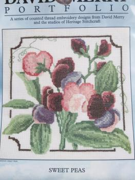 "Heritage Crafts Stickvorlage "" Sweet Peas ""  von David Merry"
