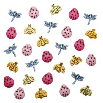 Dress it up Button - Tiny Bugs