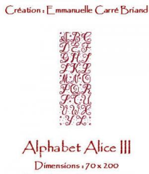 Alice & Co Stickvorlage Alphabet Alice III