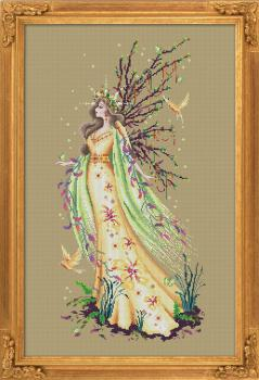 Bella Filipina Stickvorlage Gaia, The Earth Goddness