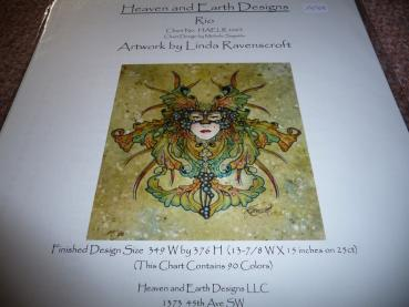 "Heaven And Earth Designs Stickvorlage "" Rio "" von Linda Ravenscroft"
