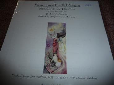 "Heaven And Earth Designs Stickvorlage "" Sisters under The Sun "" von Stephanie Pui-Mun Law"