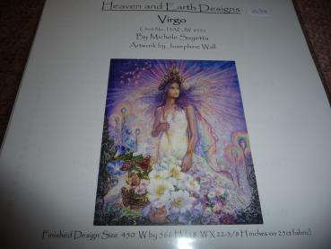 "Heaven And Earth Designs Stickvorlage "" Virgo "" von Josephine Wall"