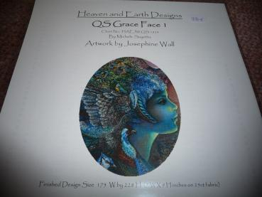 "Heaven And Earth Designs Stickvorlage "" QS Grace Face I "" von Josephine Wall"