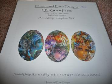 "Heaven And Earth Designs Stickvorlage "" QS Grace Faces "" von Josephine Wall"