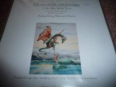 "Heaven And Earth Designs Stickvorlage "" Take me with you "" von Sharon Hurst"
