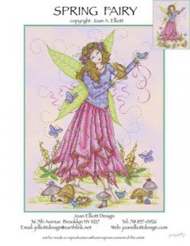"Joan Elliott Stickvorlage "" Spring Fairy """