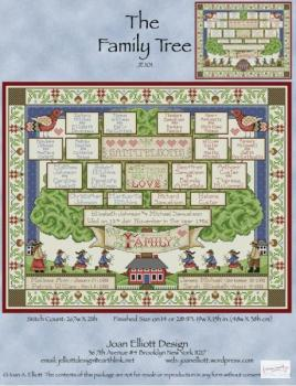 "Joan Elliott Stickvorlage "" The Family Tree """