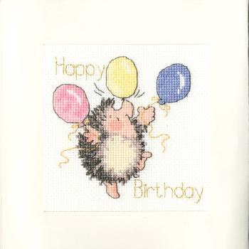 Bothy Threads - Stickpackung Karte Birthday Balloons