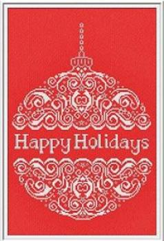 "Alessandra Adelaide Needleworks Stickvorlage ""Happy Holidays"""
