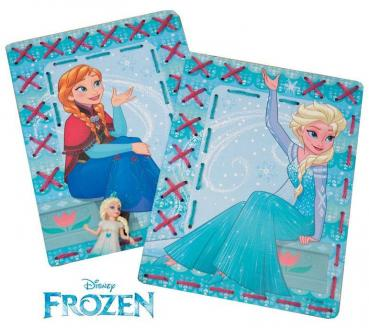 Vervaco Stickpackung 2-er Set Stickkarten Disney Frozen Anna & Elsa