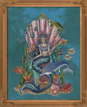 Bella Filipina Stickvorlage Amphitrite, Queen Goddess Of The Sea
