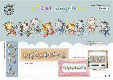 "Sodastitch Stickvorlage ""Cat Angels"""