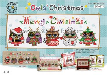 "Sodastitch Stickvorlage ""Owl`s Christmas"""