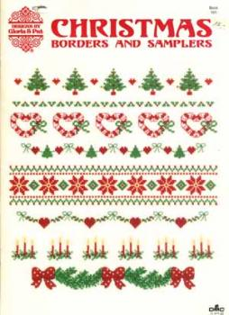 Gloria & Pat Stickheft Christmas Borders an Samlers