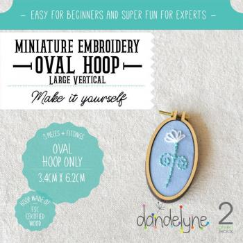Dandlyne Mini Hoop oval 3,4 x 6,2cm * Mini Stickring *