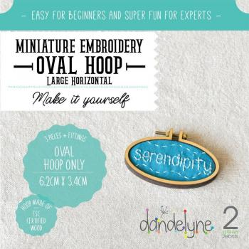 Dandlyne Mini Hoop oval 6,2 x 3,4cm * Mini Stickring *