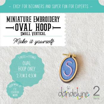 Dandlyne Mini Hoop oval 2,7 x 4,5cm * Mini Stickring *