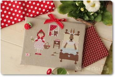 "Madame Chantilly - Stickvorlage ""Cappuccetto Rosso: Granny`s House"""