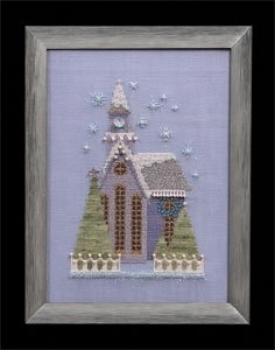 "Nora Corbett Stickvorlage ""Little Snowy Lavender Church"""