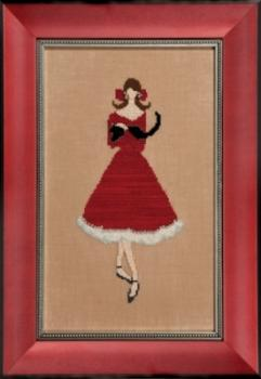"Nora Corbett Stickvorlage ""Red Kitten"""