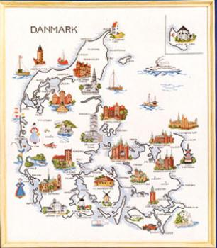Dänemarkkarte Map Denmark