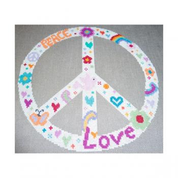 "Stickvorlage ""Peace"""