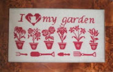 "Rovaris Stickvorlage "" I love my Garden """