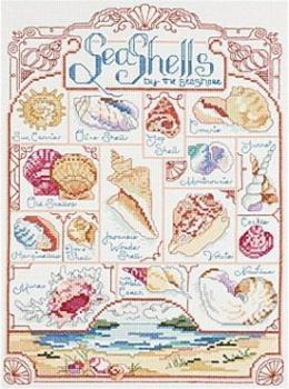 Lanlynn Stickvorlage Just a Chart - Seashell Sampler