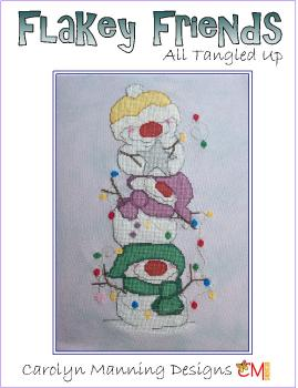 "Carolyn Manning Stickvorlage ""Flakey Frinds - All tangeld up"""