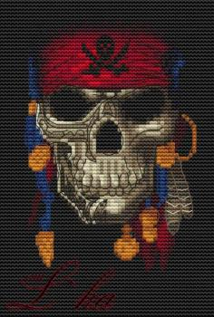 "LKACross Stickvorlage ""Jolly Roger"""