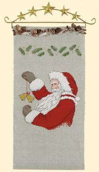 Rico Design Stickpackung Behang Nikolaus mit Glocken 20x40cm