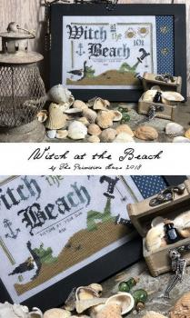 "Primitive Hare Stickvorlage "" Witch at the Beach """