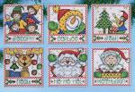 "Design Works Crafts Kreuzstichpackung "" Holiday Tags "" 6 Ornamente"