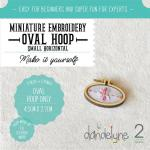 Dandlyne Mini Hoop oval 4,5 x 2,7cm * Mini Stickring *