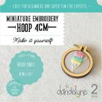 Dandlyne Mini Hoop 4cm * Mini Stickring *