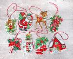 Letistitch Stickpackung Christmas Toys Kit Nr. 1 mit Plastic Canvas