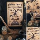 "Primitive Hare Stickvorlage "" Where there is Witch there is a Way """